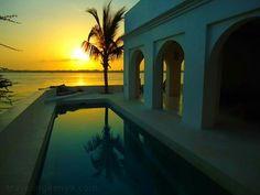 Sunrise from Forodhani House, Lamu. Kenya