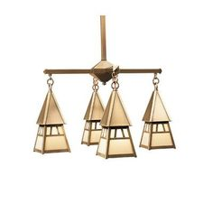Arroyo Craftsman Dartmouth 4 Light Sputnik Chandelier Finish: Raw Copper, Shade Color: Gold White Iridescent