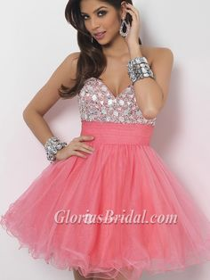 2013 New Style Cute Strapless Sweetheart Short Party Dress Sweet 16 Dresses - Glorias Bridal
