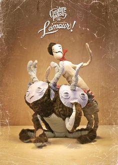Siamese Love by luiza kwiatkowska, via Behance Misfit Toys, Artist Branding, Toy Art, Monster Art, Siamese, Cuddle, Stuffed Animals, Art Direction, Sculpture Art