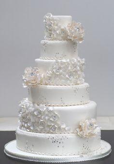 Wedding cake, beautiful white with bling!
