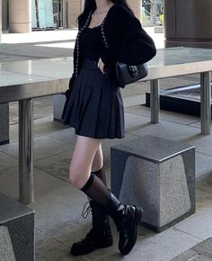 Lit Outfits, Edgy Outfits, Korean Outfits, Fall Outfits, Fashion Outfits, Korean Girl Fashion, Alternative Fashion, Aesthetic Clothes, Style Inspiration