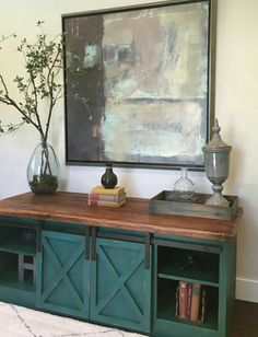 LOVE the Old World feel of this sliding Door Console Do It Yourself Home Projects from Ana White Furniture Projects, Furniture Plans, Furniture Makeover, Home Projects, Furniture Decor, Painted Furniture, Tv Diy, Ana White, Barn Door Console