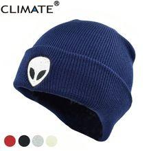 1dae6e834afa CLIMATE Cool Étrangers UFO Fans Hiver Chaud Tricoté Beanie Outstar Espace de  soucoupe E.T Domicile HipHop