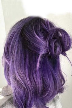 Bold and Provocative Dark Purple Hair Color Ideas ★ See more: http://lovehairstyles.com/dark-purple-hair/