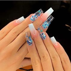 Cute Acrylic Nails 608478599644400773 - Top 32 Acrylic Nail Designs of 2020 : Page 22 of 32 : Creative Vision Design Top 32 Acrylic Nail Designs of 2020 : Page 22 of 32 : Creative Vision Design Source by Clear Acrylic Nails, Summer Acrylic Nails, Clear Nails With Glitter, Coffin Acrylic Nails Long, Ballerina Acrylic Nails, Coffin Acrylics, Gel Acrylic Nails, Summer Nails, Aycrlic Nails
