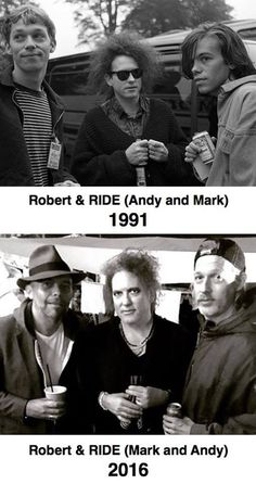 Robert Smith & Andy & Mark from Ride.