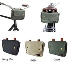 Outdoor Sports Cycling Waxed Canvas Bicycle Handlebar Bag Bike Saddle Pouch