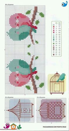 "Ponto d Cruz [ ""This Pin was discovered by Mónica Illescas. Discover (and save!) your own Pins…"", ""Lovie bird heart❤"", ""pasari indragostite pe creanga"", ""for bodice of baby dresses"" ] # # # # # # # # # Cross Stitch For Kids, Cross Stitch Boards, Cross Stitch Bookmarks, Cross Stitch Heart, Cross Stitch Animals, Cross Stitch Designs, Cross Stitch Patterns, Cross Stitching, Cross Stitch Embroidery"