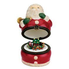 Mr. Christmas Mini Porcelain Santa Claus Music Box #15003. #SantaClaus #Santa #Claus #Christmas  #Figurine #Decor #Gift #gosstudio .★ We recommend Gift Shop: http://www.zazzle.com/vintagestylestudio ★