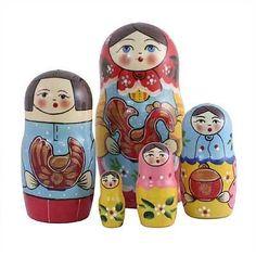 "Nesting Doll ""Traditional KHOKHLOMA Matryoshka"" Russian Doll Fast Shipping   eBay"