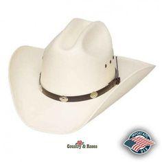 Sencillo sombrero tipo rodeo unisex de paja blanca. Un sombrero muy bonito  y facil de llevar en cualquier ocasión. 24a3edc979b