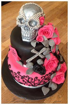 Skull Cake: Perfect use for the Skull Baking Mold.  #Halloween