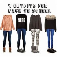 ... by Fashion ♥♥: Come vestirsi a scuola? | Back to school outfits