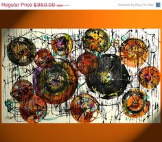 Labor Day Weekend SALE Large Custom by AbstractXpressionism