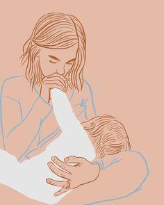 Family Illustration, Illustration Art, Breastfeeding Art, Mother Art, Love Posters, Baby Art, Mothers Love, Painting Inspiration, Illustrations Posters