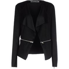 Noisy May Blazer ($53) ❤ liked on Polyvore featuring outerwear, jackets, blazers, black, black jacket, single breasted jacket, blazer jacket, black blazer jacket and black blazer