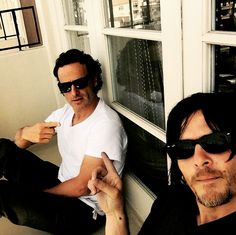 Andrew and Norman, instagram, #twd