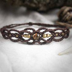Filigree Fairy Macrame Bracelet Tribal Ethno por MacramaniaShop