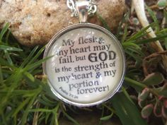 Psalm 7326 My Flesh May Fail But God is My by SweetBirdieBlessings, $17.00 Perfect give for someone who has a sickness!  Great encouragement!