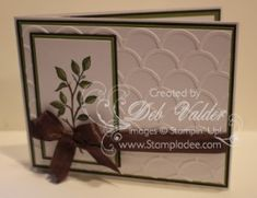 NEW PRODUCT Striped Scallop Thinlet using Transfer Sheets with Deb Valder www.stampladee.stampinup.net for all your shopping need