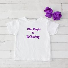 The Magic is Believing Purple Graphic T-Shirt