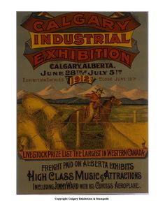 Poster from 1912 Calgary, Vintage Posters, Canada, Friends, Poster Vintage, Amigos, Boyfriends
