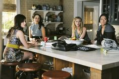 Pretty Little Liars 'UnmAsked' Troian Bellisario as Spencer Hastings, Ashley Benson as Hanna Marin, Shay Mitchell as Emily Fields and Lucy Hale as Aria Montgomery.
