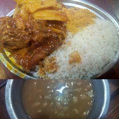 Um prato com um erro desastroso no sal, que deixou tudo com um sabor bastante complicado de saborear, fora a qualidade do preparo no arroz e feijão, a carne é a única coisa que se salva no prato, porém não a experiência como um todo.  #almoco #comida #lanchonete #restaurante #padoca #costela #mandioca #arroz #feijao #salgado #molho #tempero #carne #XinGourmet #Princesinha #lunch #food #restaurant #meat #rice #beans  Costela com mandioca - R$17,90 em Lanchonete & Restaurante Princesinha
