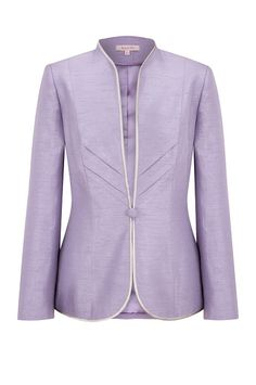 Lavender Chevron Detail Jacket, beautifully luxurious for your next special occasion. Classy Work Outfits, Cool Outfits, Blazer Fashion, Fashion Outfits, Blazer And Shorts, Blazer Jacket, Purple Jacket, Fashion Today, African Fashion Dresses