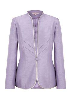 Jacques Vert Lavender Chevron Jacket