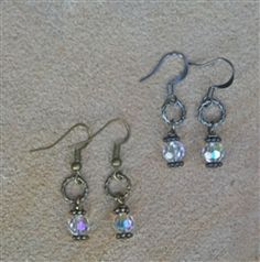 Twisted Circle with Crystal Drop earring from Forever Yours