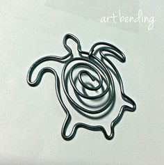 turtle | paperclip | 5 X 6 cm | galvanized wire 2 mm thick