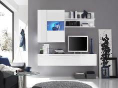 tv wall unit design in the living room: extraordinary modern wall