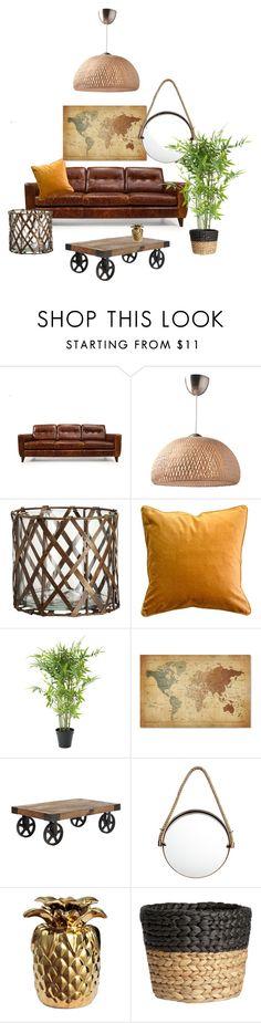 """Modern natural"" by tonigoldesign on Polyvore featuring interior, interiors, interior design, home, home decor, interior decorating, H&M, Trademark Fine Art and modern"