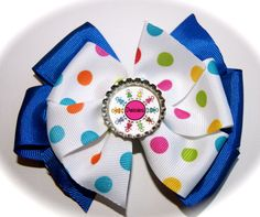Daisy Scouts Stacked Pinwheel Bow