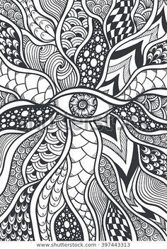 Doodle Art Drawing, Zentangle Drawings, Mandala Drawing, Art Drawings Sketches, Doodles Zentangles, Drawing Ideas, Zen Doodle Patterns, Doodle Art Designs, Zentangle Patterns