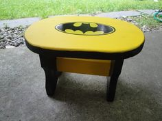 Batman Wooden Step Stool by NYPickers on Etsy, $14.75