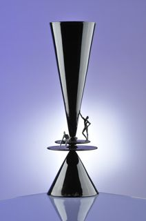 Piccoli uomini (little men) black flute by Cesare Toffolo (this is ALL glass)