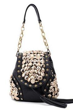 Multifunctional Women Bags 2015 High Quality Leather Backpack Tassel and Diamante Decoration Korean Backpacks For Teenage Girls Backpack Purse, Leather Backpack, Fashion Backpack, Studded Backpack, Mini Backpack, Laptop Backpack, Chain Shoulder Bag, Shoulder Handbags, Shoulder Bags