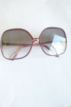 Mod 60's Plum Oversized Shades / Vintage by JulesCristenVintage