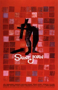 Film Posters by Saul Bass (Part One: 1949 - 1958) - Saint Joan