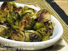 Farmgirl Fare: Recipe: Quick Roasted Brussels Sprouts with Lemon and Parmesan (or Slightly Gussied Up with Garbanzos and Dijon)
