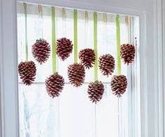 Pinecone curtain doodads