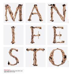 Logo Manifesto - © we are the future - Nude Alphabet by Anthon Beeke - typography wim vandersleyen