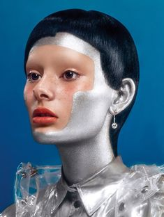Makeup by beauty artist Isamaya Ffrench.