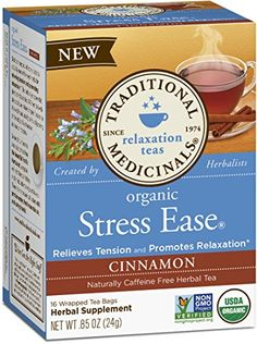 Traditional Medicinals Organic Nighty Night Sleep Tea, 16 Tea Bags (Pack of Calming Tea, Relaxing Tea, Sleep Tea, Good Sleep, Sleep Better, Nighty Night Tea, Valerian Tea, Latte, Cinnamon Tea