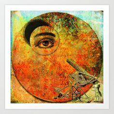 The astronomer Art Print by ganech - $15.60