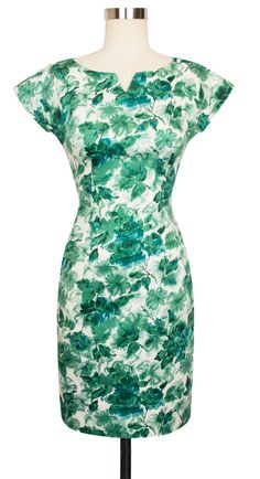 Add a little wiggle to your walk in the new Trashy Diva Martini Dress in Jade Watercolor!