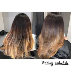 Downtown Campbell: Cut 4 inches off her hair and toned down her balayage ombré. #embelishlounge #embelishhairlounge #daisy_embelish #dialight #hairstylist #haircolorist #haircolor #loreal #lorealpro #lorealprous #randco #follow #sanjose #sanjosesalon #sanjosehairstylist #campbell #bayarea #idohair #haircut #blowout #layers by daisy_embelish